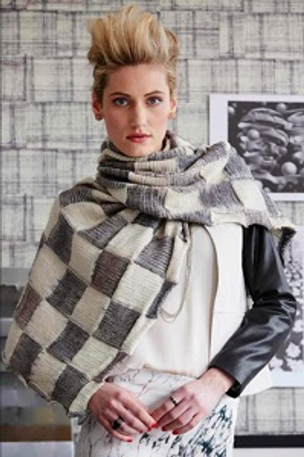Ikat Check Wrap (Fall 2014)