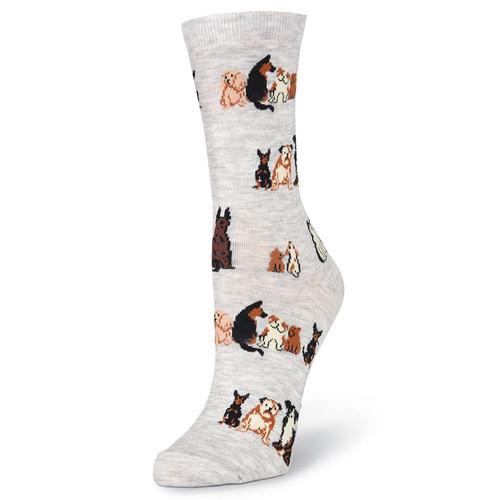 K.Bell Women's Sitting Dogs Crew Socks