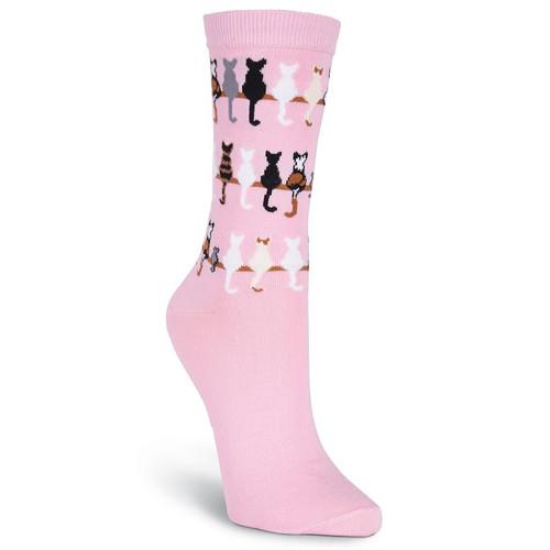 K.Bell Women's Cat Tails Crew Socks(P)
