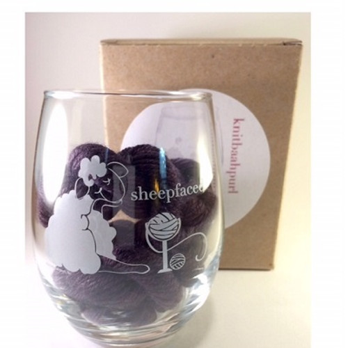 Sheepfaced Wine Glass(Stemless)