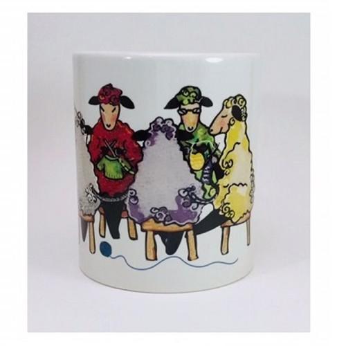 Wendy's Knitting Circle Color Mug