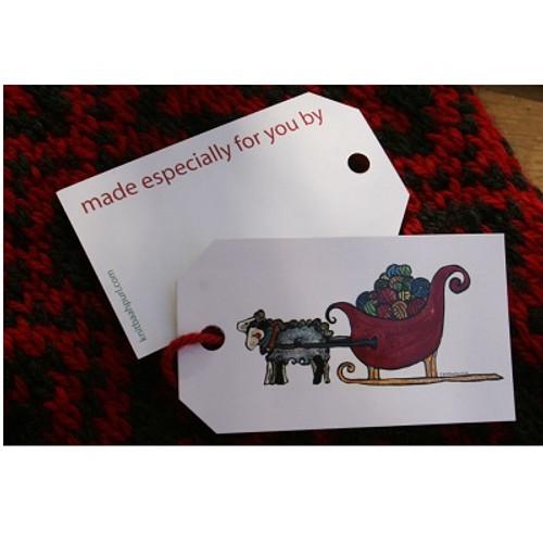 SHEEP SLEIGH Gift Tags