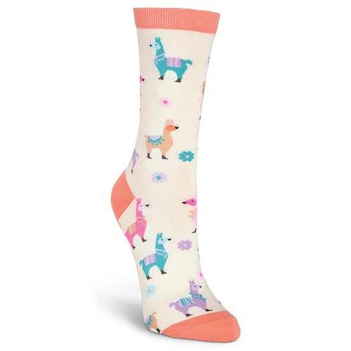 K.Bell Women's Llamas Crew  Socks