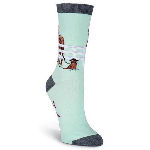 K.Bell Women's Hold Your Horses  Crew  Socks