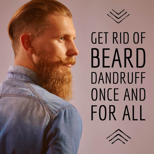 Treat Dry Skin Under Beard and Beard Dandruff - Beard and Company