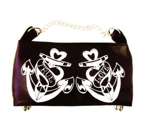 Lux De Ville True Love Anchors Mini Chain Hobo Bag