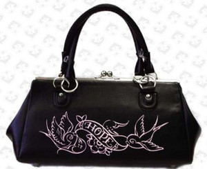 Lux De Ville Hope Sparrows Rebel Kiss Lock Bag