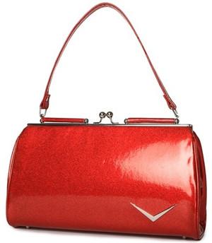 Lux De Ville Getaway Kiss Lock Red Sparkle