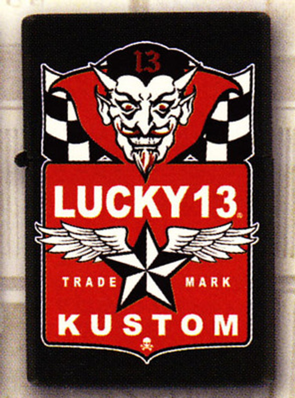 Lucky 13 Devil Flags Lighter