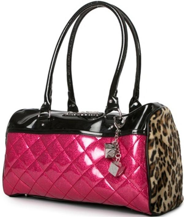 Lux De Ville Atomic Tote Black and Pink Sparkle