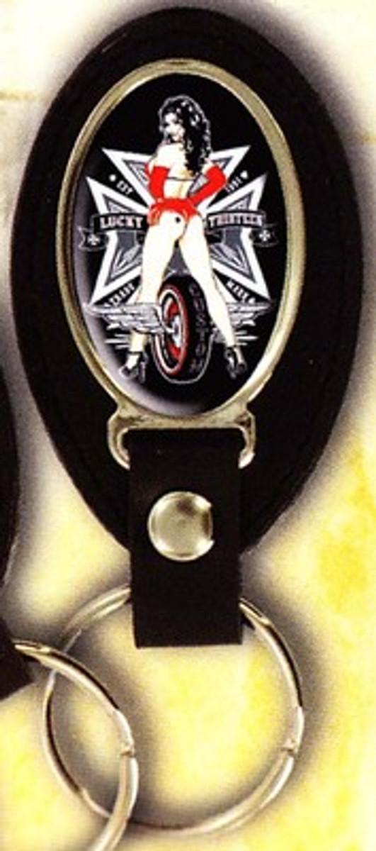 Lucky 13 Back Tire Keychain