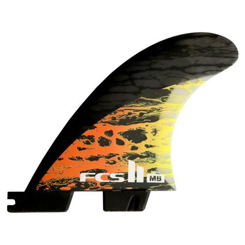 FCS 2 NEW Matt Biolos Small | Thruster Fin Set | Performance Core Carbon
