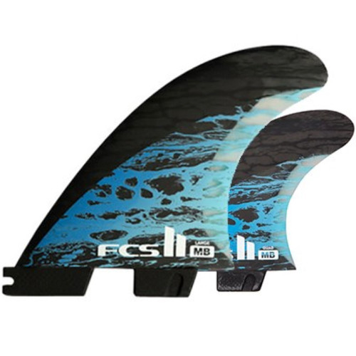 FCS 2 Matt Biolos Large NEW | Tri-Quad Fin Set | Performance Core Carbon