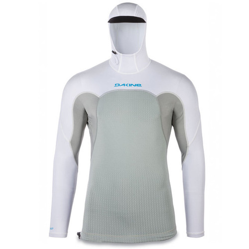 Storm Snug Fit Long Sleeve Hooded UV  Padded Rashguard | White
