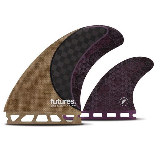 Rasta  | 2 + 1 Twin Fin Set | Honeycomb Carbon Fibre | Futures Fins