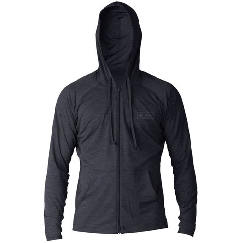 Ventx Surf Tee | Pacific Hoodie UV Long Sleeve UV Top | Heathered Black