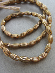 Fancy Brass Spacer Beads (4-5x9mm)
