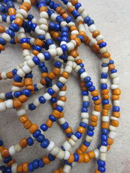 Mixed Ghana Glass Beads - 3 Strands