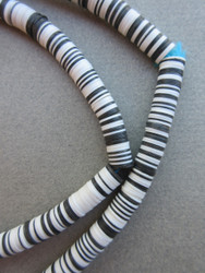 Black & White Vinyl Disk Beads (8x1mm)