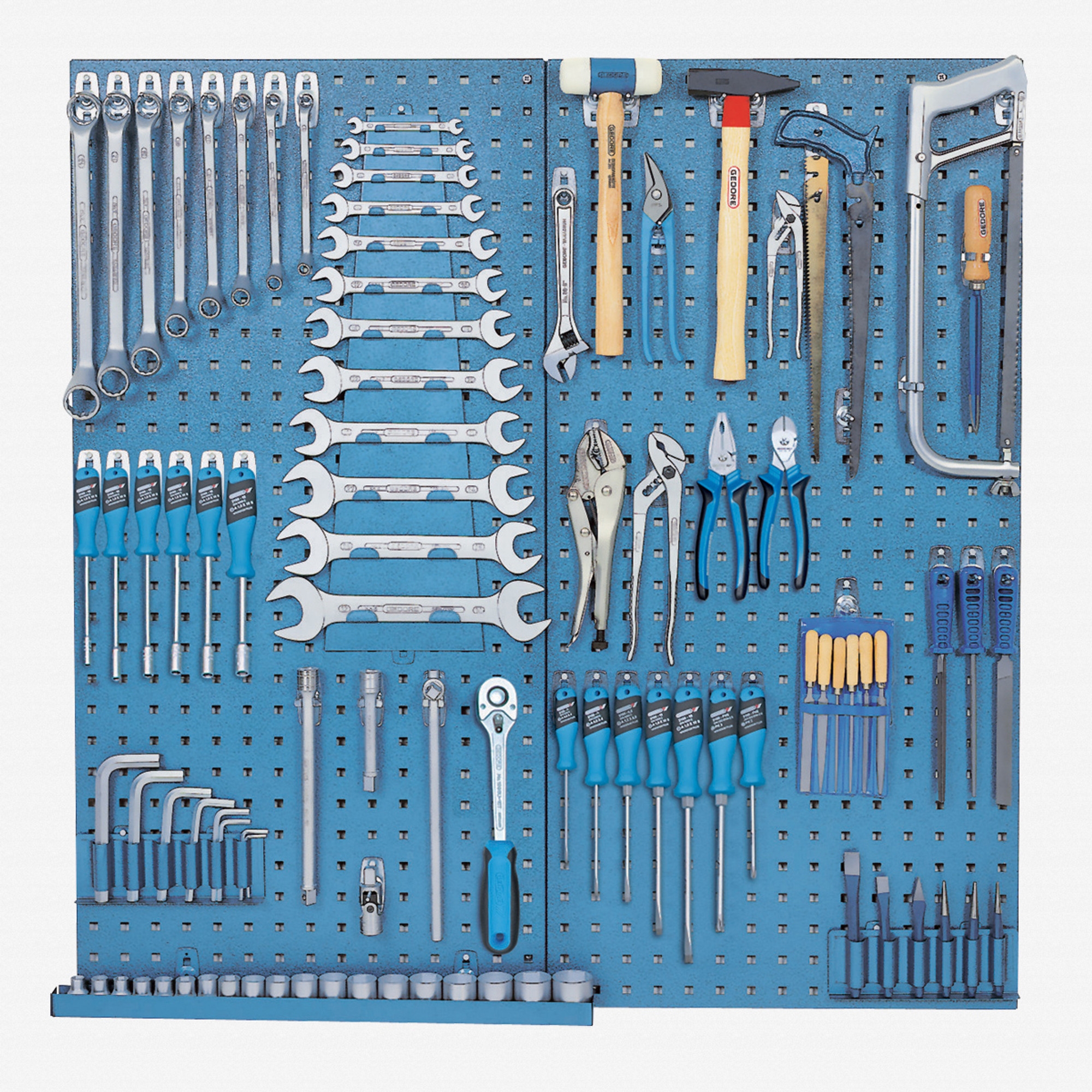 Gedore 1400 G-1450-2 Tool panel with assortment