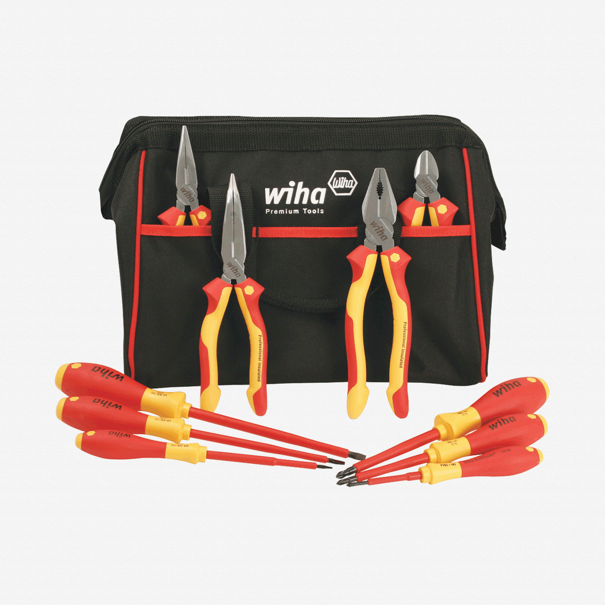 Wiha 32892 10 Piece Insulated Pliers/Cutters/Driver Tool Box - KC Tool