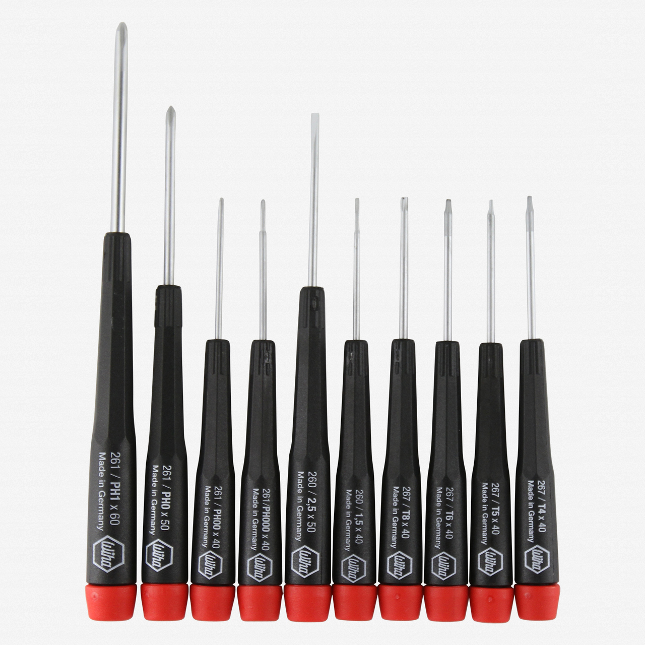 Wiha Custom 10 Piece Precision Slotted, Phillips, and Torx Technician Set - KC Tool