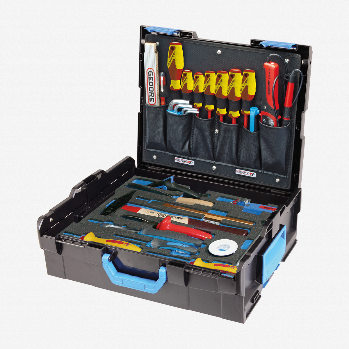 gedore 1100 02 gedore sortimo l boxx 136 with assortment electrician 36 pc. Black Bedroom Furniture Sets. Home Design Ideas