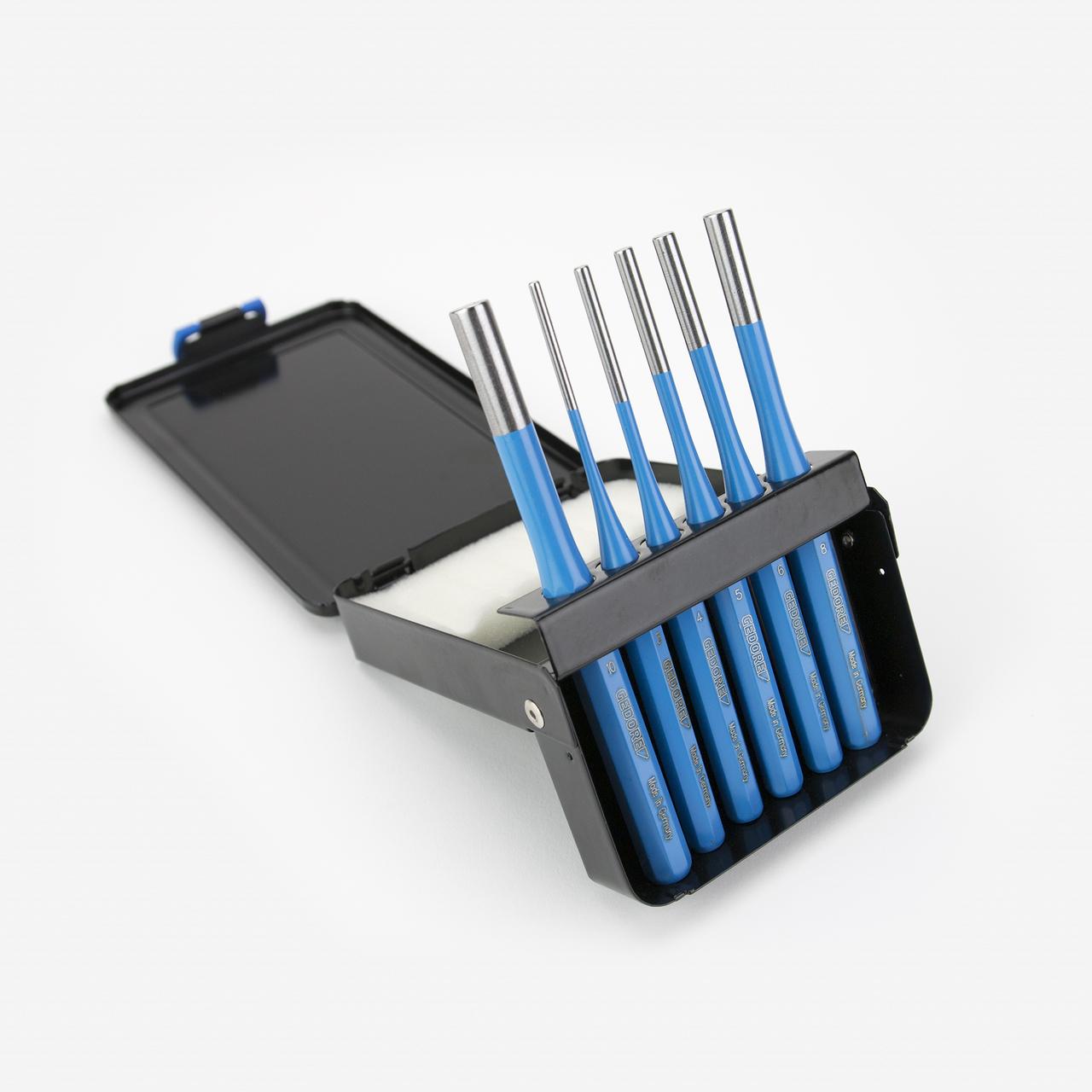 Gedore 316 D Pin Punch Set 6 Pcs in Metal Case - KC Tool