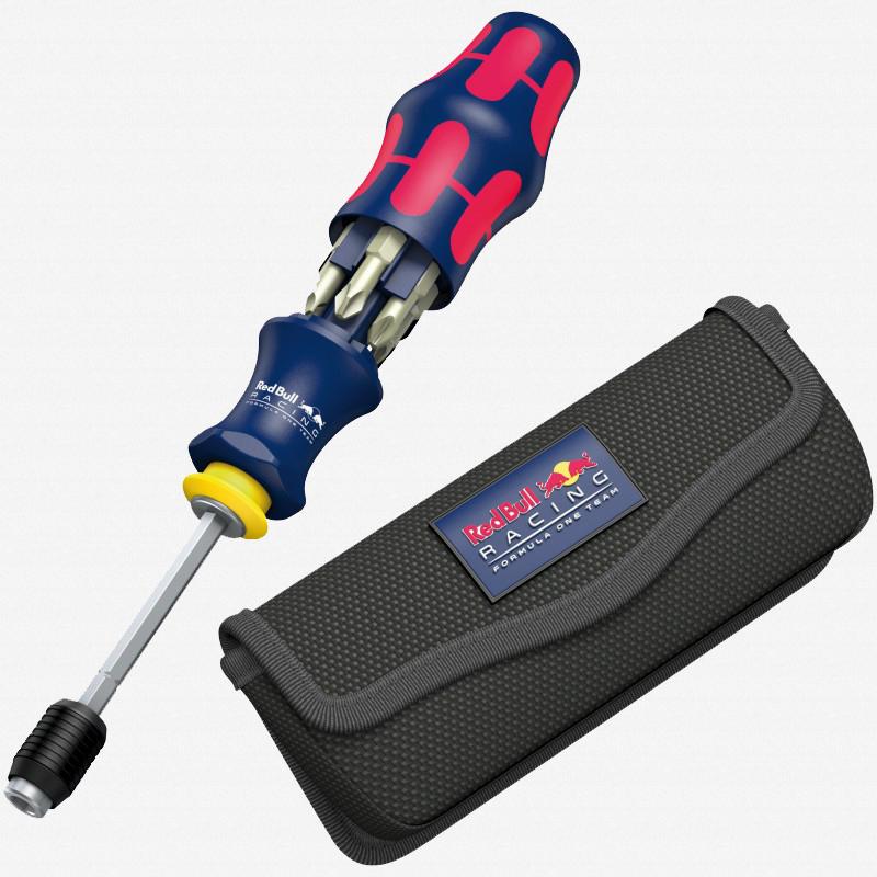 Wera 227702 Red Bull Racing Kraftform Kompakt 20 Stainless Bits + Pouch Set - KC Tool