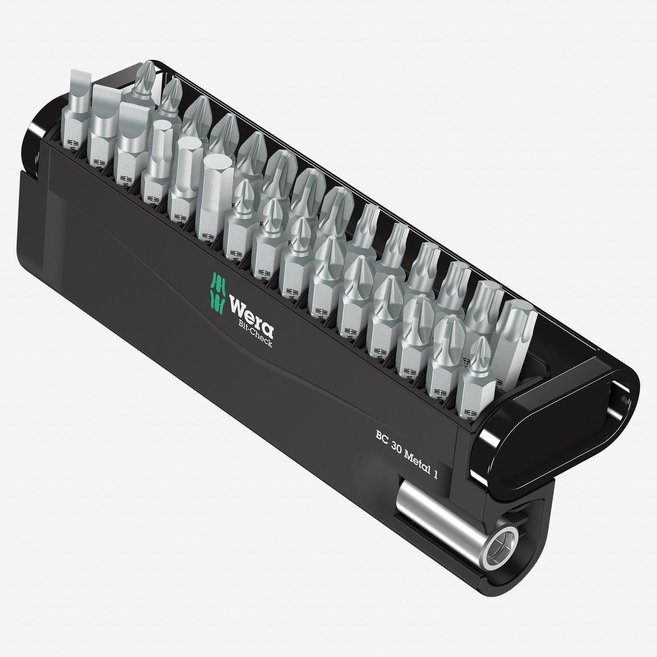 Wera 057434 Bit-Check 30 Metal 1 - PH, PZ, TX, Hex and Slotted Insert Bit Set - KC Tool