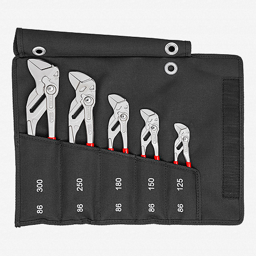 Knipex 00-19-54-S4 5 Piece Pliers Wrench Set with Tool Roll - KC Tool