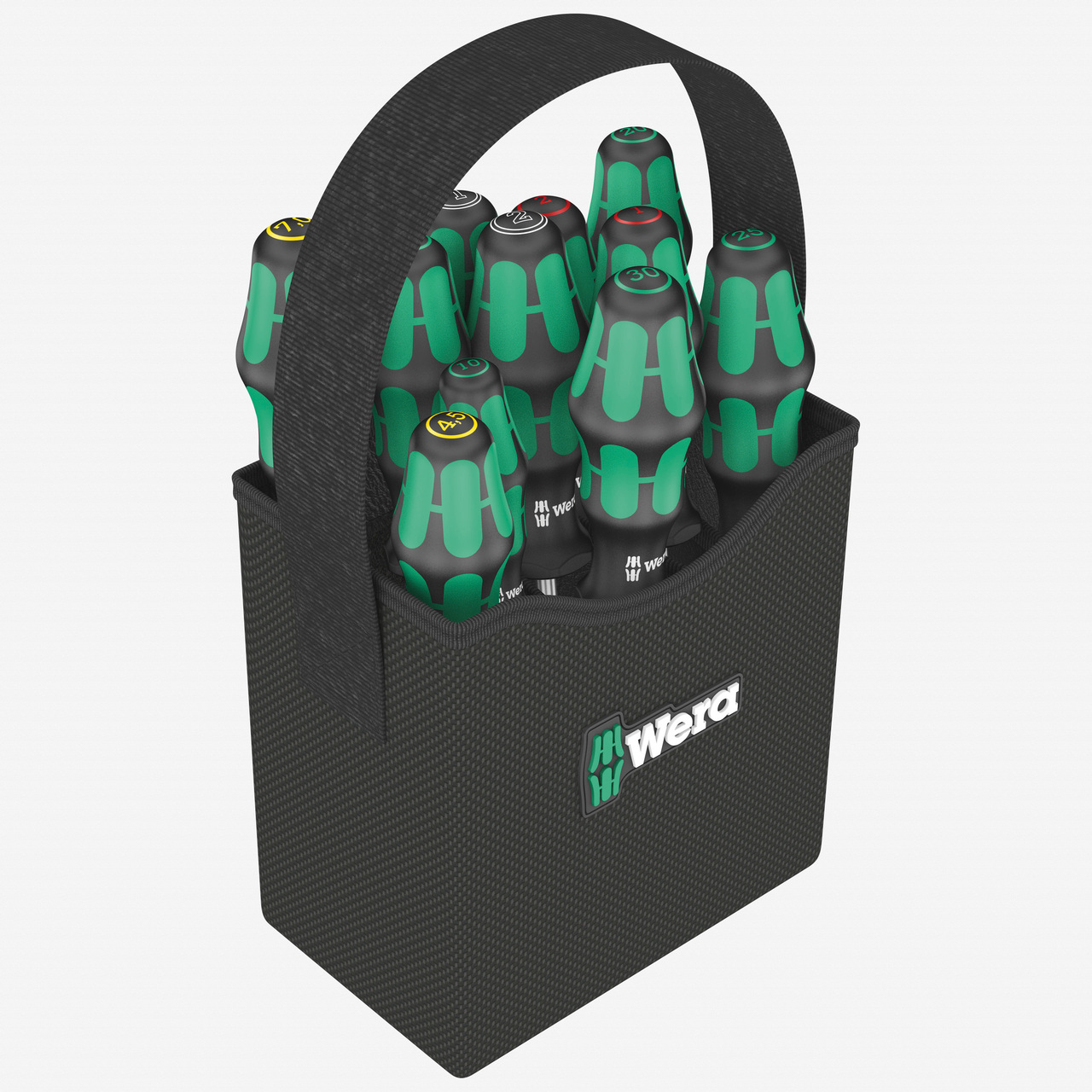 Wera 004313 2go 300 Kraftform Screwdriver Set with Tool Quiver - KC Tool