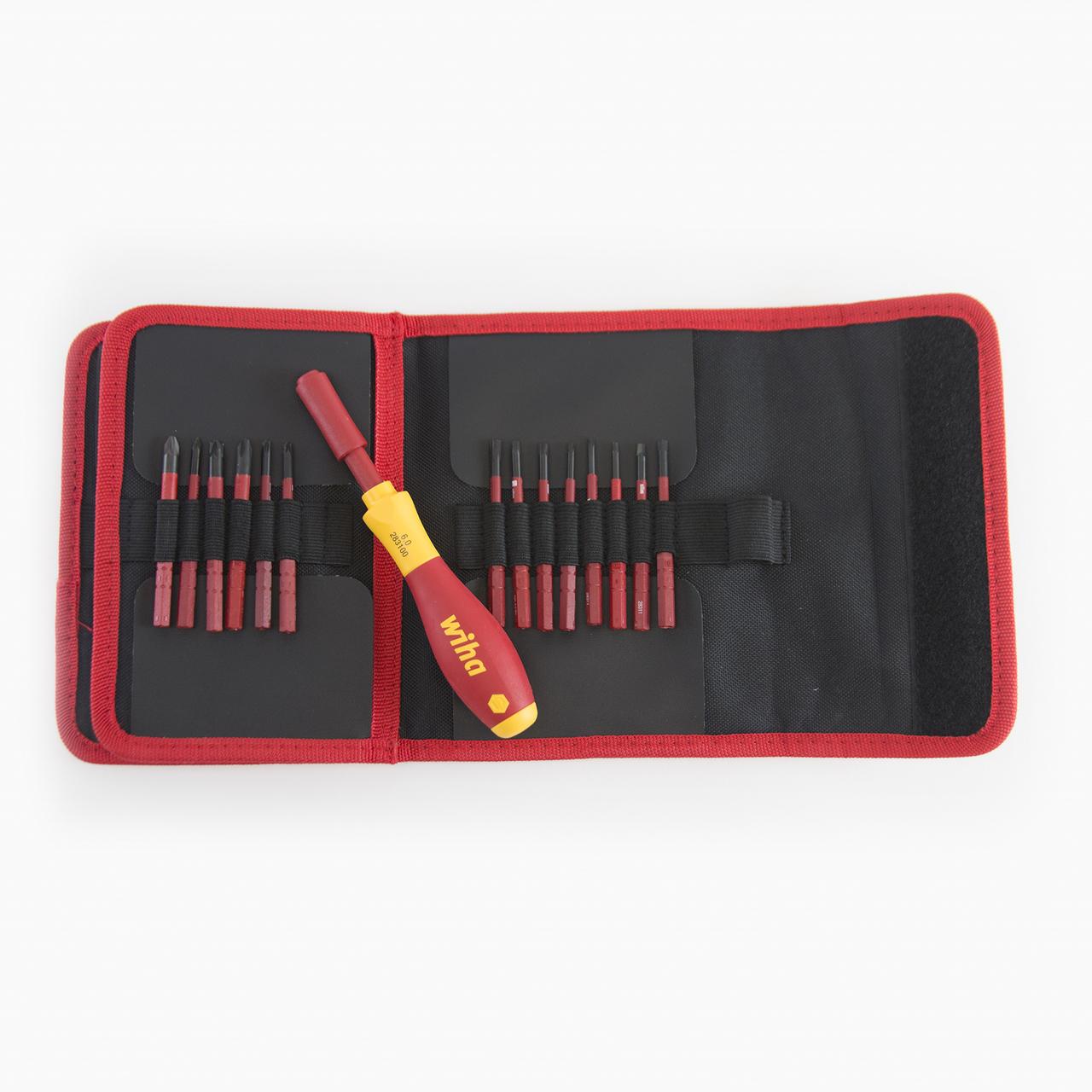 Wiha 28399 30 Piece Insulated SlimLine Blade Pouch Set