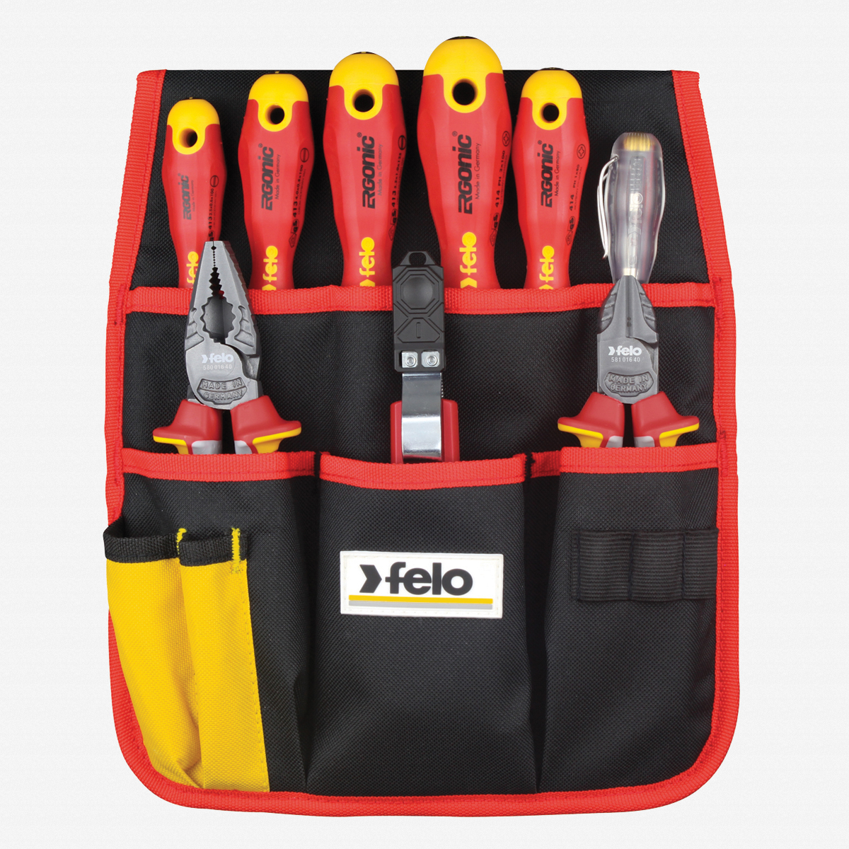 Felo 63859 9 Pc VDE Belt Pouch Set - KC Tool