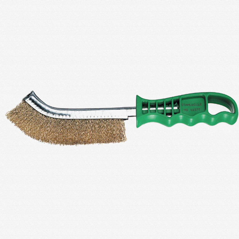 Stahlwille 12377 Brass Coated Steel Bristle Wire Brush - KC Tool