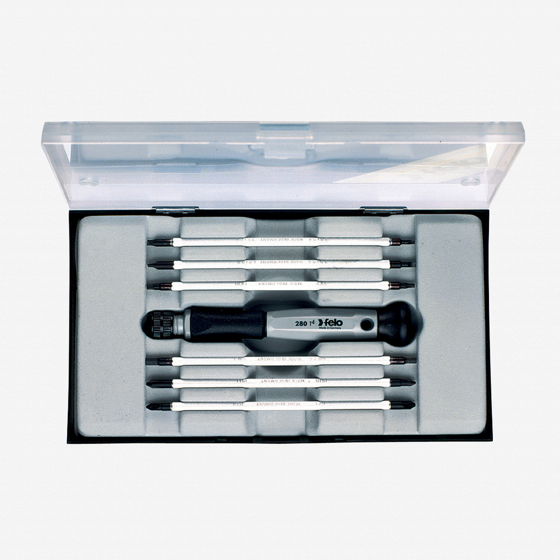Felo 50723 7 piece Slotted, Phillips, & Pozidriv Reversible Precision Blade Set - KC Tool