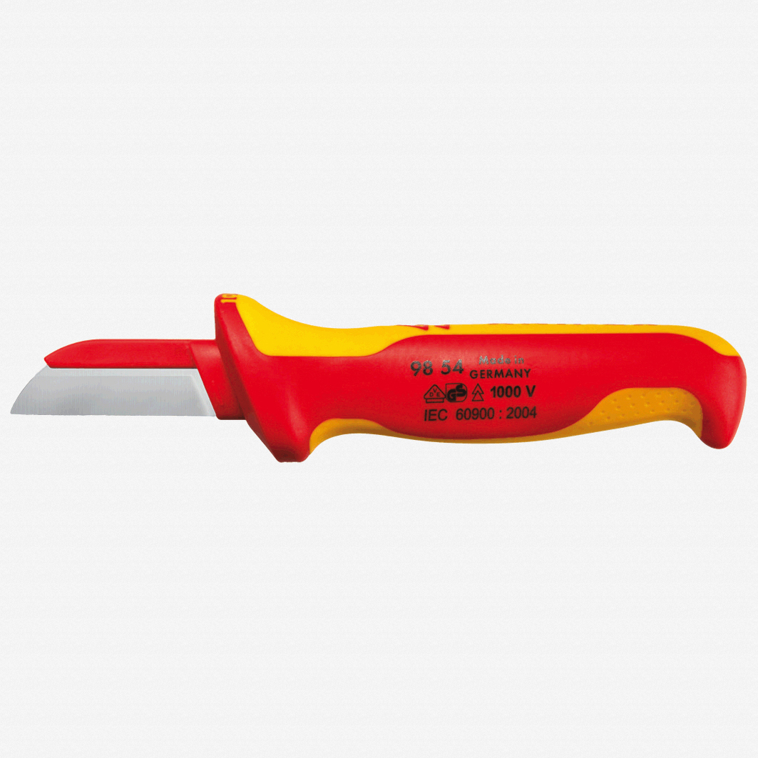 Knipex 98-54 Insulated Cable Knife - Plastic Back - KC Tool