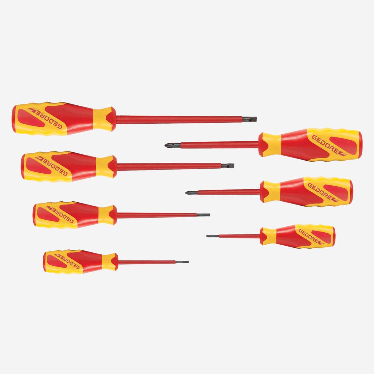 Gedore VDE 2170-2160 PH-077 VDE Screwdriver set 7 pcs IS 2.5-6.5 PH 0-2 - KC Tool