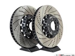 ECS Tuning 2-Piece Lightweight Front Brake Rotors Pair (374x36) - M5 M6 E60/E63/E64