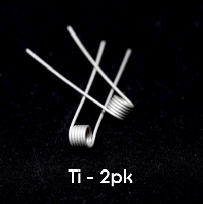 Pre-Built Ti Coils (2pk)
