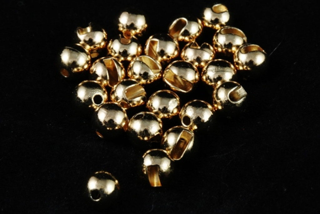 Tactical Fly Fisher Slotted Tungsten Beads 50 pack Silver, Gold, Copper, Black Nickel, and Unfinished Tungsten