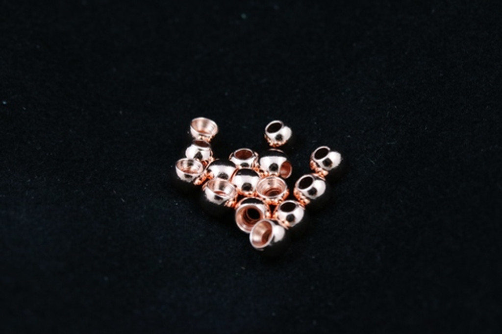 Tactical Fly Fisher brass beads 50 pack in gold, silver, copper, and black nickel