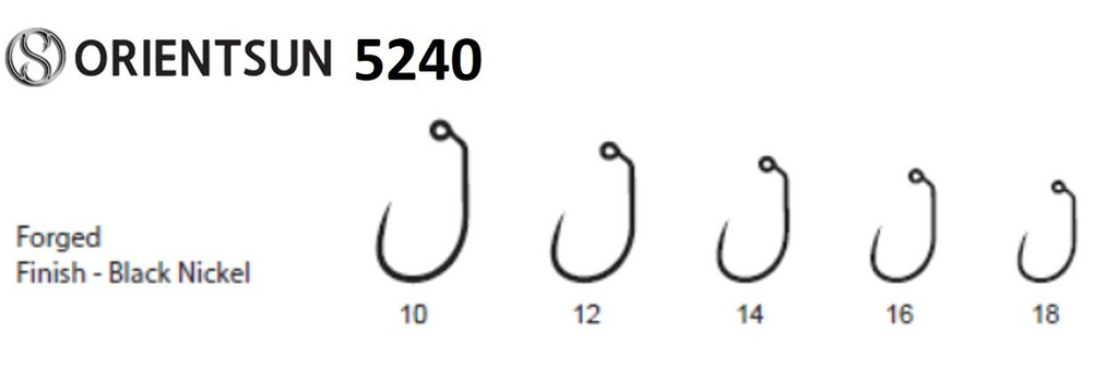 Orientsun 5240 Barbless Wide Gap Jig Nymph Hook and 5241 heavy wire