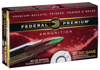 Fed Prm 3006 165 Grain Weight Trphy Copper 20/