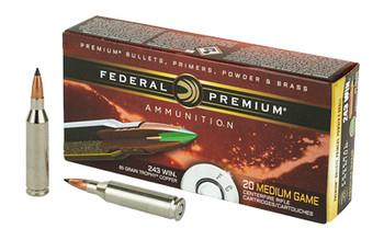 Fed Prm 243win 85 Grain Weight Trphy Copper 20