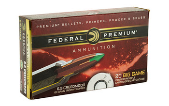 Fed Prm 6.5creed 130 Grain Weight Trphy Copper