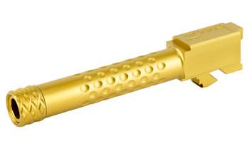 ZEV Barrel For G19 Dimpled Gold Threaded