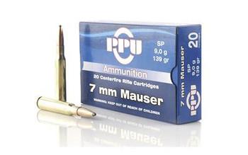 Ppu 7mm Mauser Sp 139 Grain Weight 20/Box