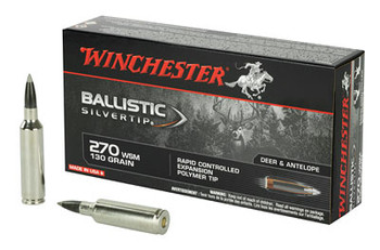 Win Ballistic Tip 270wsm 130 Grain Weight 20/Box