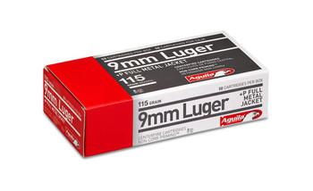 Aguila 9mm +p 115 Grain Weight Fmj 50/1000